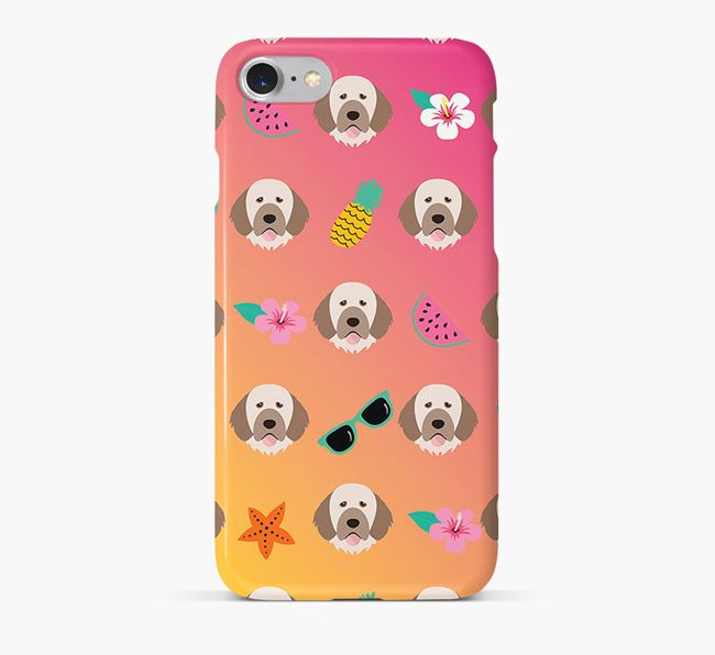 Tropical Portuguese Water Dog Phone Case