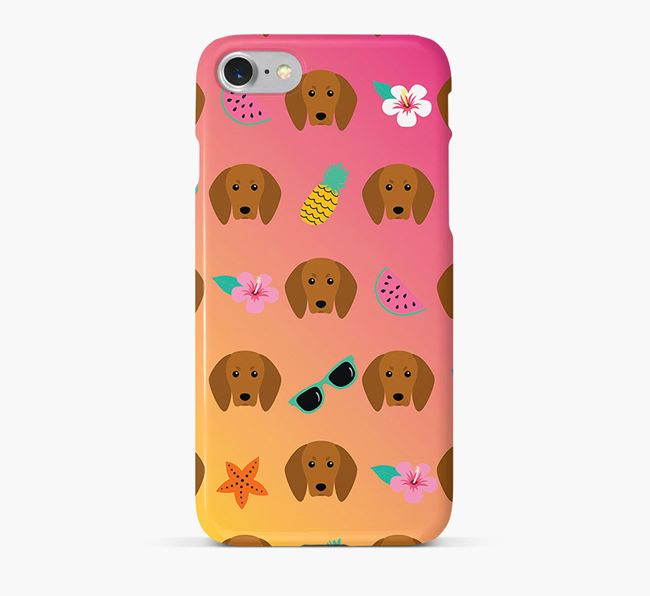 Tropical Redbone Coonhound Phone Case