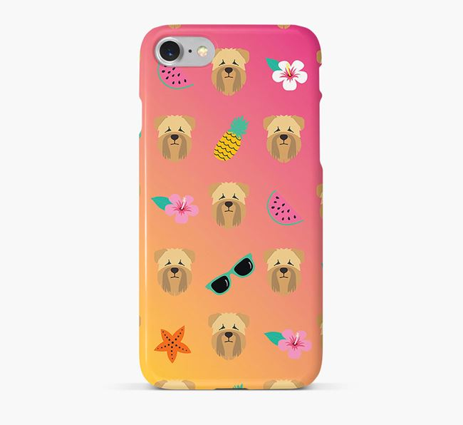 Tropical Soft Coated Wheaten Terrier Phone Case
