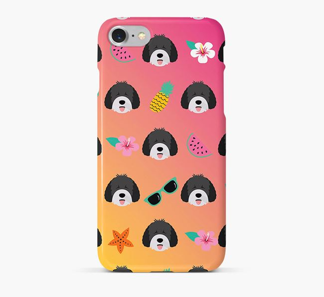 Tropical Spanish Water Dog Phone Case