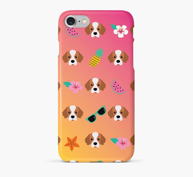 Tropical Tibetan Spaniel Phone Case