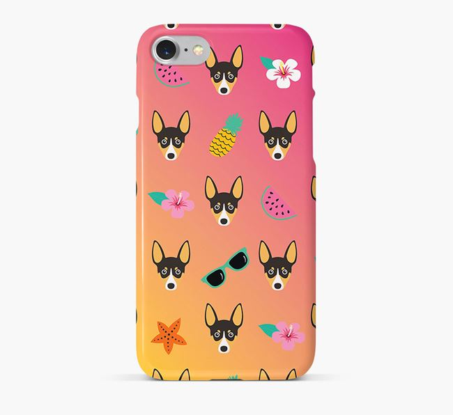 Tropical Toy Fox Terrier Phone Case