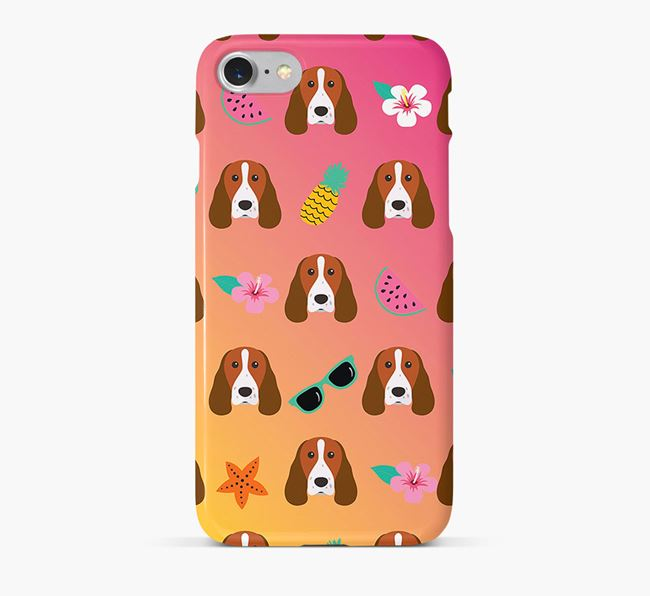 Tropical Welsh Springer Spaniel Phone Case