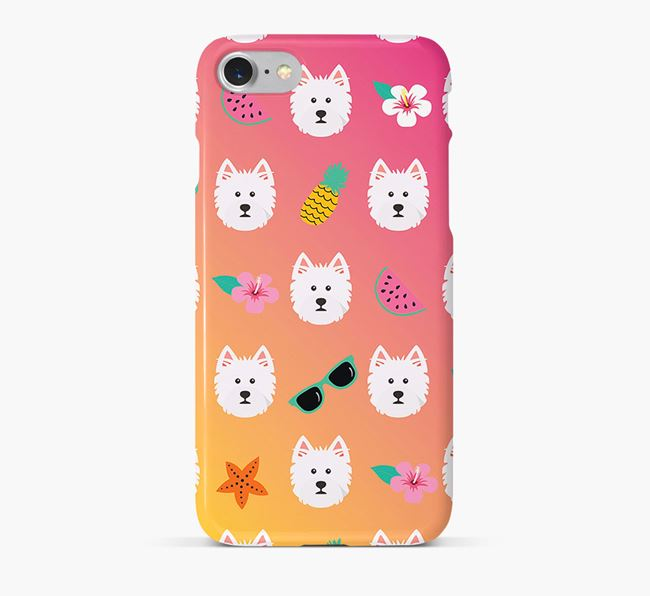 Tropical West Highland White Terrier Phone Case