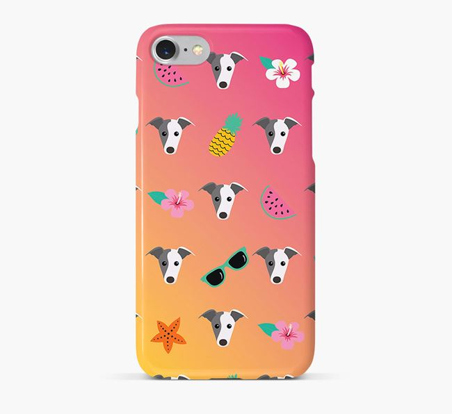Tropical Whippet Phone Case
