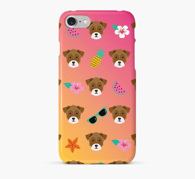 Tropical Yorkie Russell Phone Case
