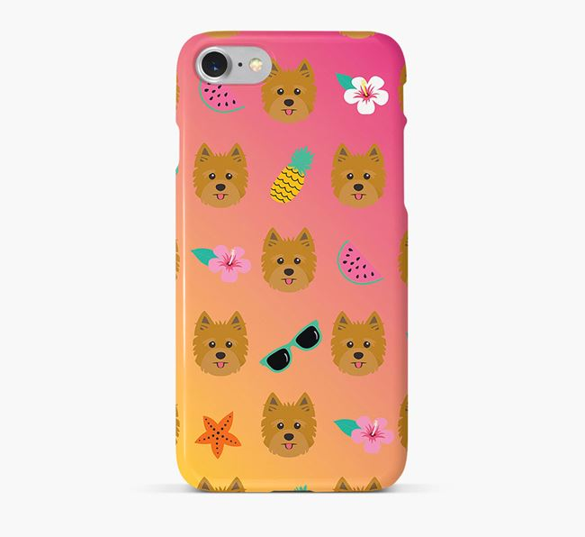 Tropical Yorkshire Terrier Phone Case