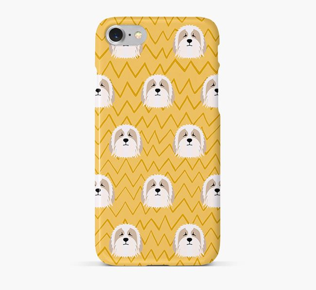 Icon & Sketch Bearded Collie Phone Case