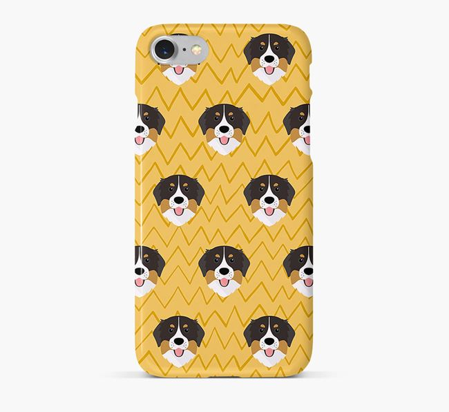 Icon & Sketch Bernese Mountain Dog Phone Case