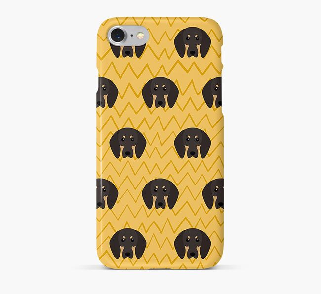 Icon & Sketch Black and Tan Coonhound Phone Case