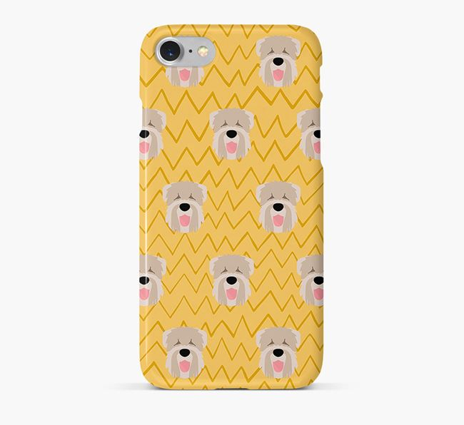 Icon & Sketch Black Russian Terrier Phone Case
