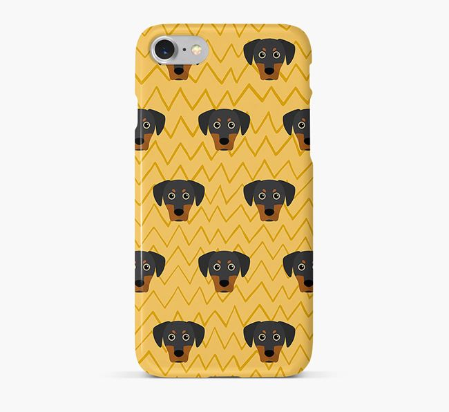 Icon & Sketch Blue Lacy Phone Case