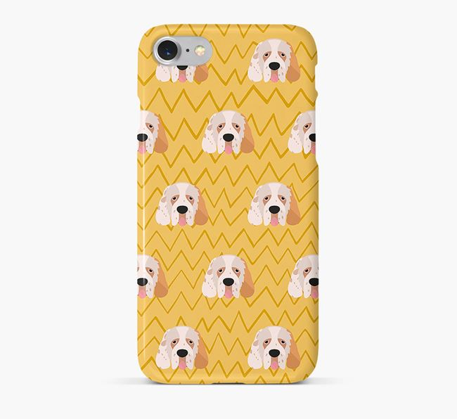 Icon & Sketch Clumber Spaniel Phone Case