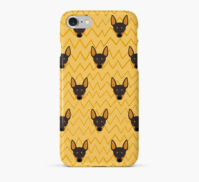 Icon & Sketch English Toy Terrier Phone Case
