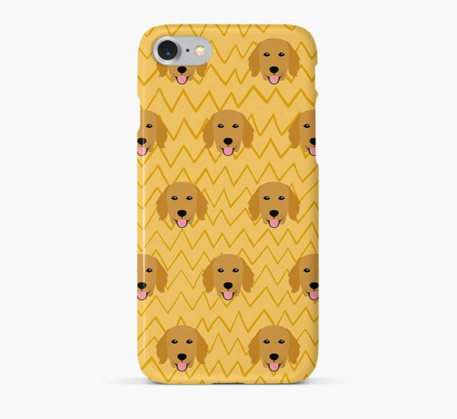 Icon & Sketch Flat-Coated Retriever Phone Case