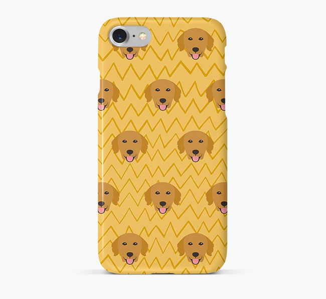 Icon & Sketch Golden Retriever Phone Case