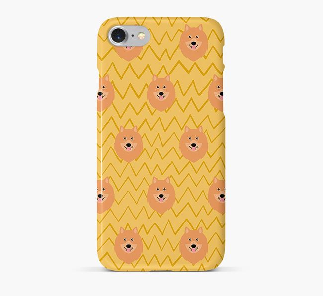Icon & Sketch Keeshond Phone Case