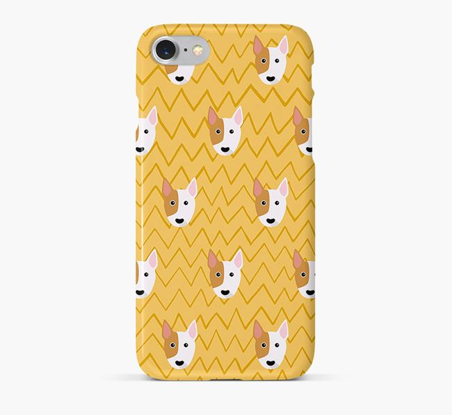 Icon & Sketch Miniature Bull Terrier Phone Case