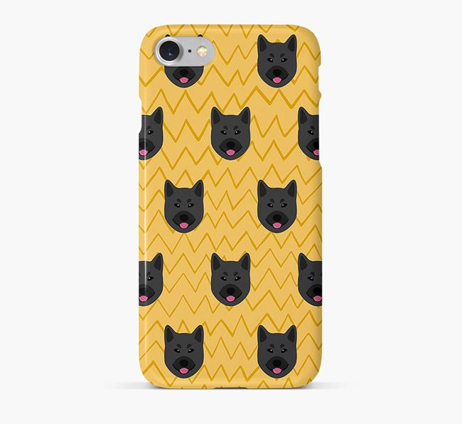 Icon & Sketch Norwegian Elkhound Phone Case