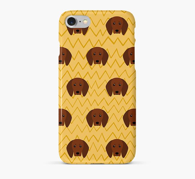 Icon & Sketch Redbone Coonhound Phone Case