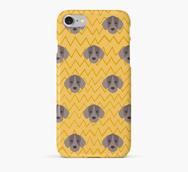 Icon & Sketch Slovakian Rough Haired Pointer Phone Case