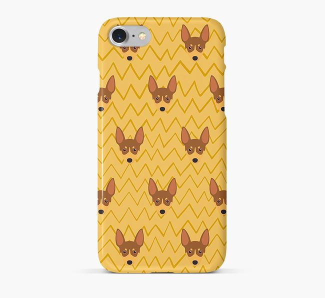 Icon & Sketch Toy Fox Terrier Phone Case