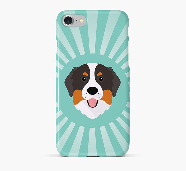 Bernese Mountain Dog Rays Phone Case