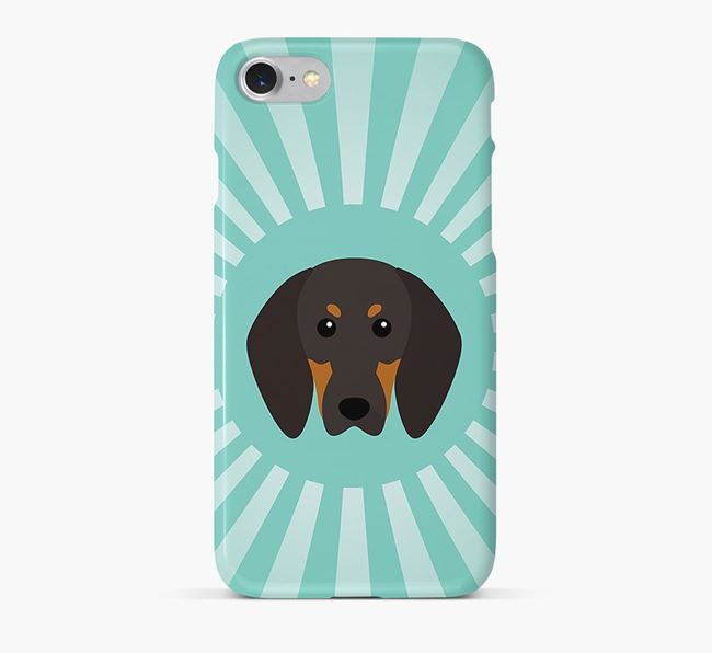 Black and Tan Coonhound Rays Phone Case