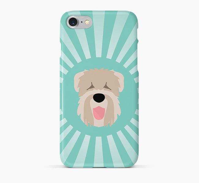 Black Russian Terrier Rays Phone Case