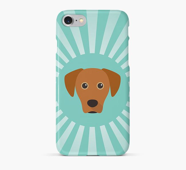 Blue Lacy Rays Phone Case