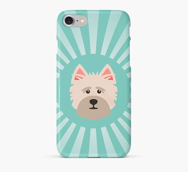 Cairn Terrier Rays Phone Case