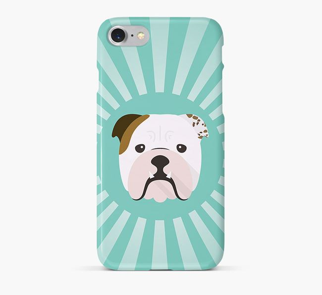 English Bulldog Rays Phone Case