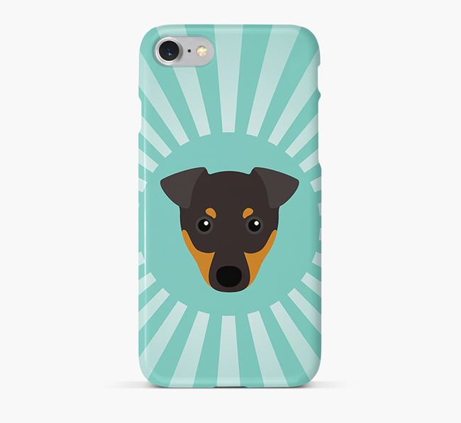 English Toy Terrier Rays Phone Case