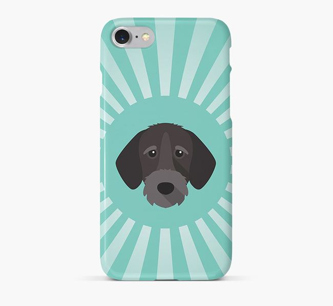 German Wirehaired Pointer Rays Phone Case