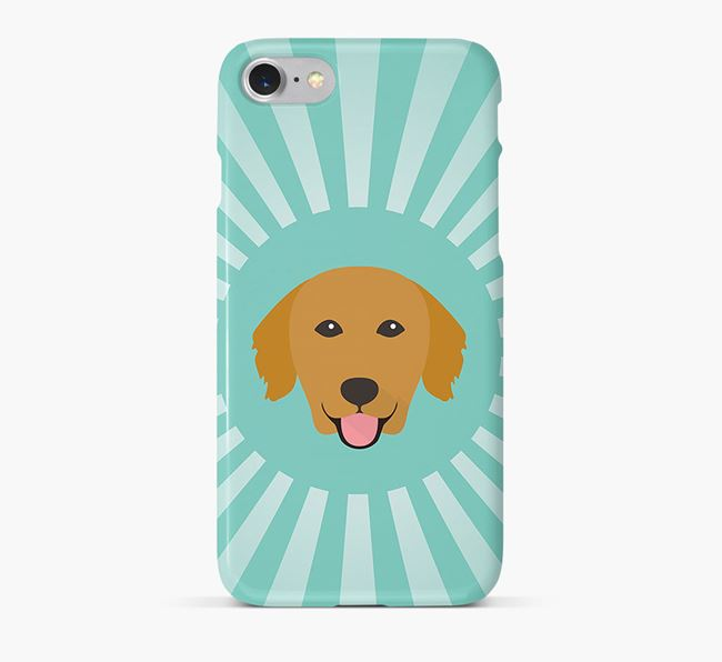Golden Retriever Rays Phone Case