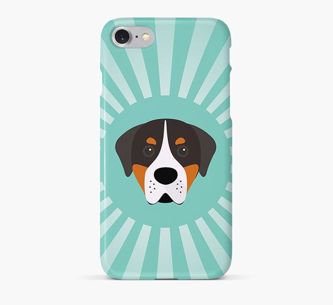Greater Swiss Mountain Dog Rays Phone Case