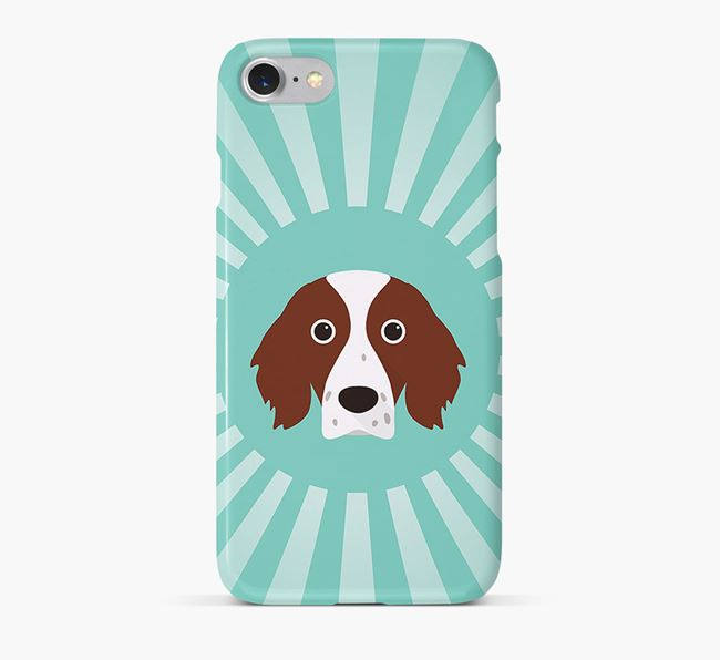 Irish Red & White Setter Rays Phone Case