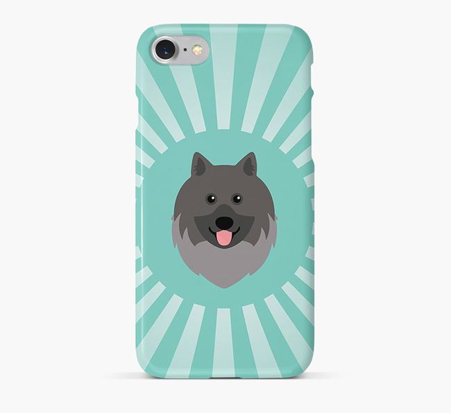 Keeshond Rays Phone Case