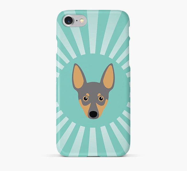 Miniature Pinscher Rays Phone Case