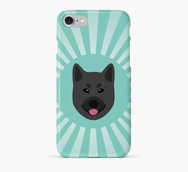 Norwegian Elkhound Rays Phone Case