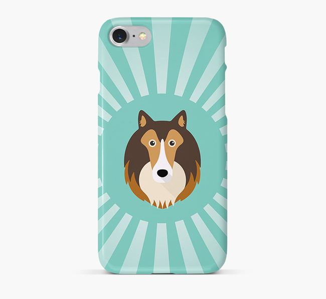 Rough Collie Rays Phone Case