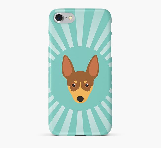 Toy Fox Terrier Rays Phone Case