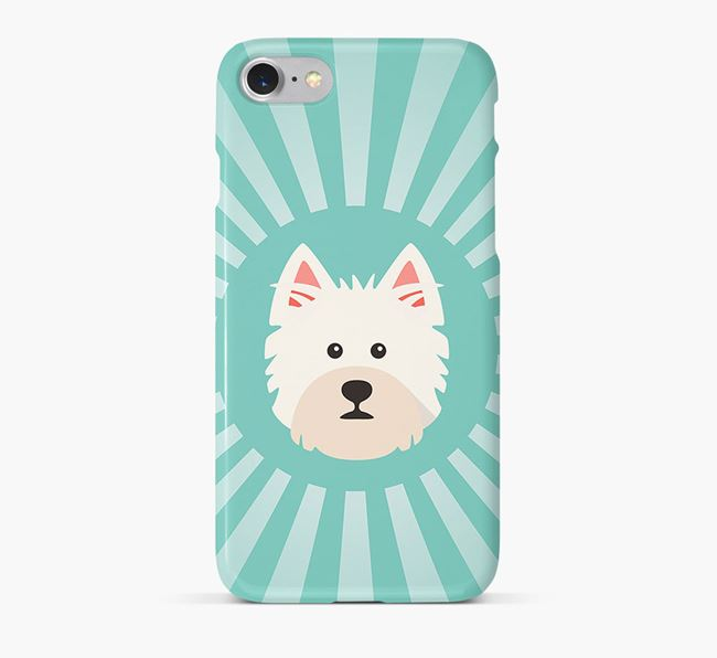 West Highland White Terrier Rays Phone Case