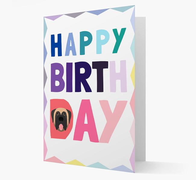 Colorful Dog 'Happy Birthday' Card