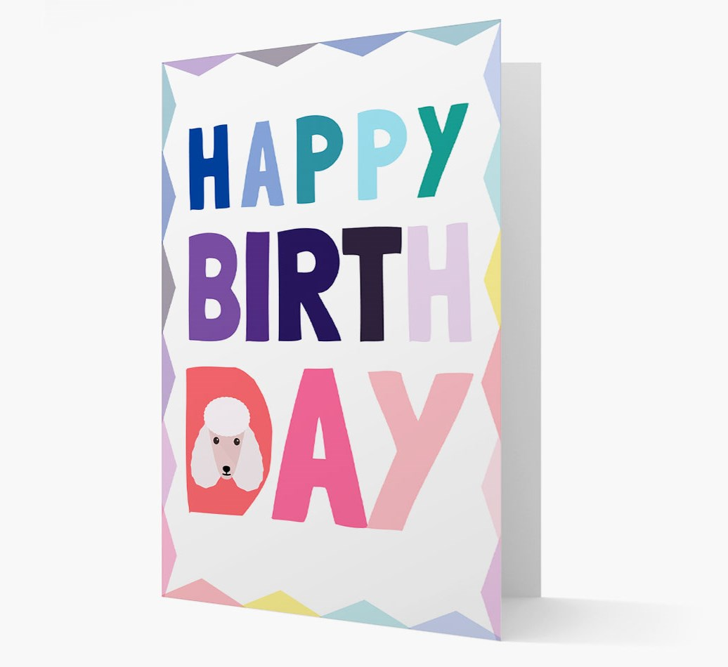Happy Birthday Card with Poodle Yappicon