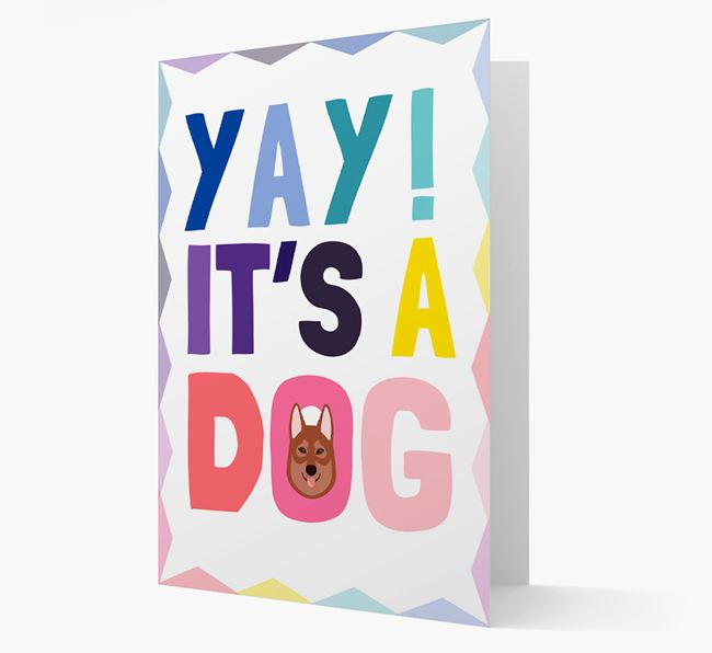 'Yay! It's a Dog' Tamaskan Card