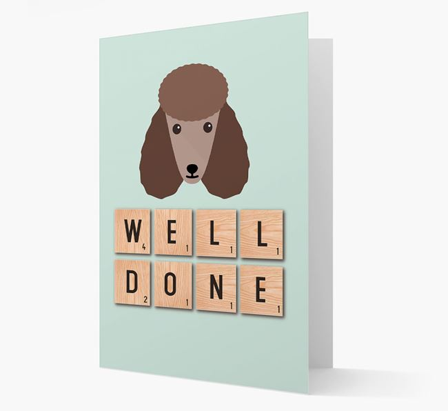'Well Done' Poodle Card