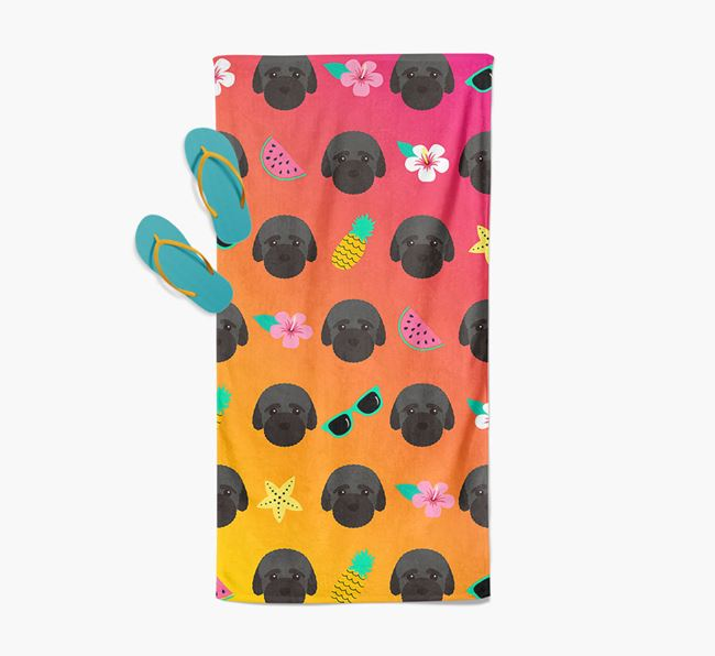 Bich-poo Tropical Pattern Pool Towel