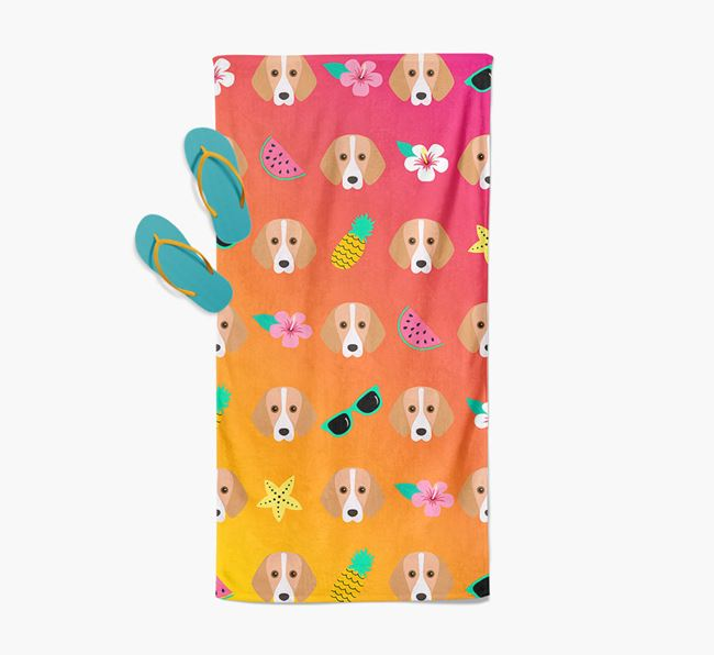 Foxhound Tropical Pattern Pool Towel