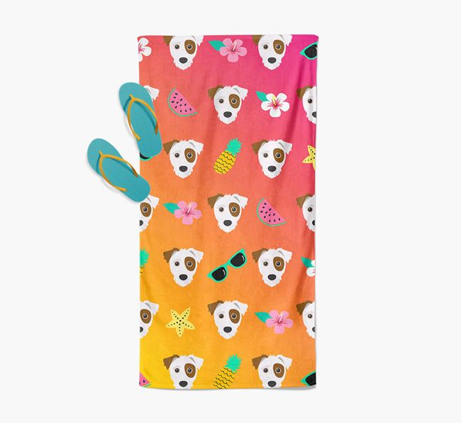 Jack-A-Poo Tropical Pattern Pool Towel